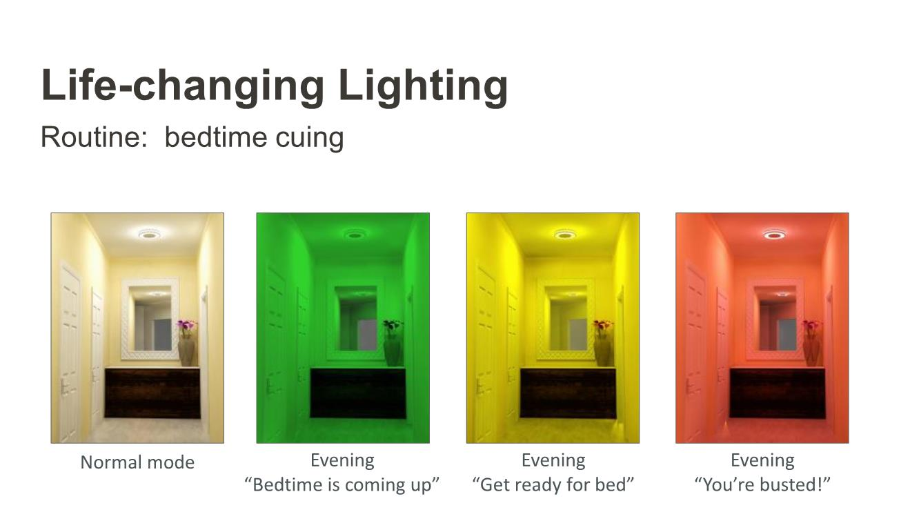 Bedtime Cuing with colored lighting for autism
