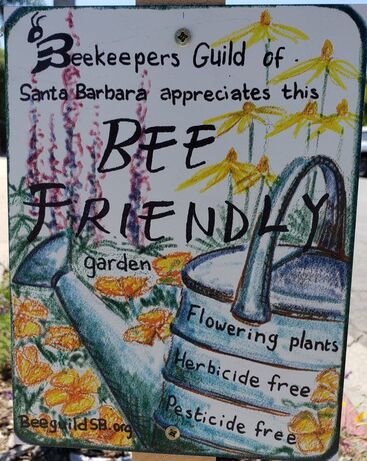 Thank you to the Beekeeper's Guild for the Bee Friend Award for Santa Barbara Mesa Insectary Garden August 2, 2019!